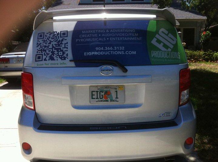 Jacksonville Fl Car Window Wrap >> QR Code Car Wrap